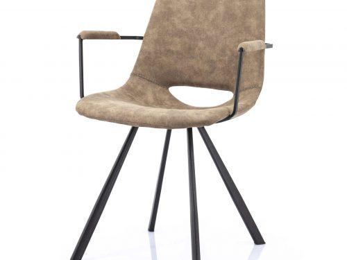 Snugg By-Boo_vagabond käsinojallinen tuoli, harmaa taupe
