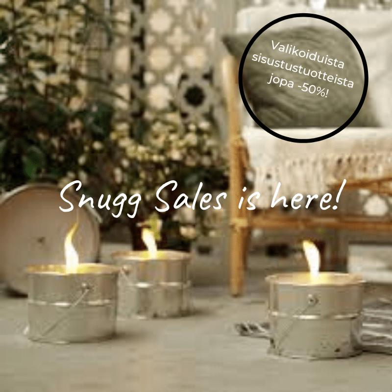 Snugg Sales sisusttustuotteiden ale