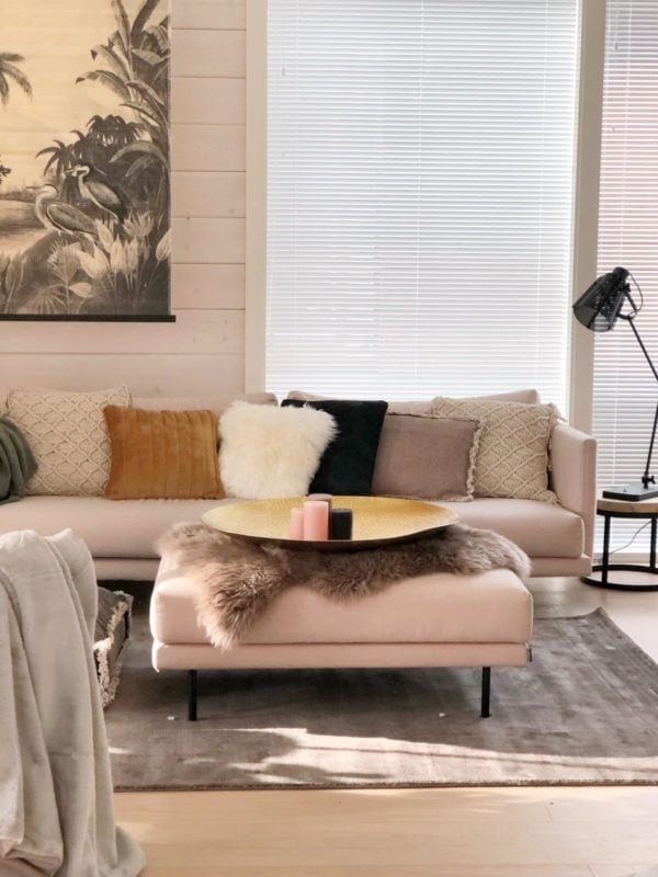 Snugg olohuone Cozy-matto, samettityynyt