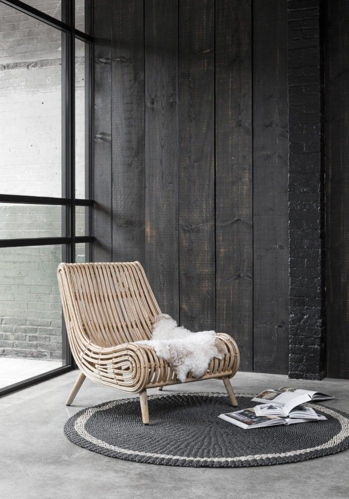 Snugg Prado carpet_pyöreä matto ja nojatuoli