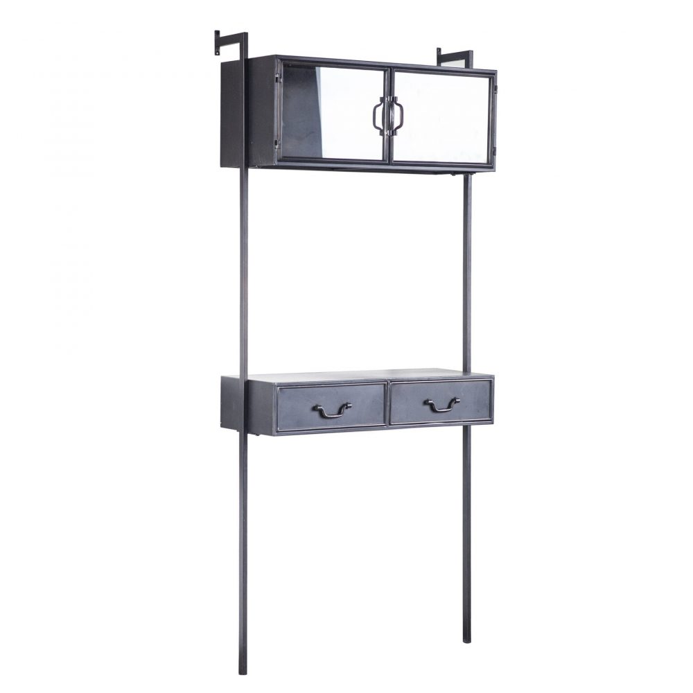 Snugg By-Boo Ventana wall cabinet, musta seinähylly
