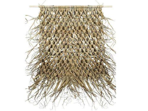 Snugg Punottu seinäkoriste palmunlehdistä