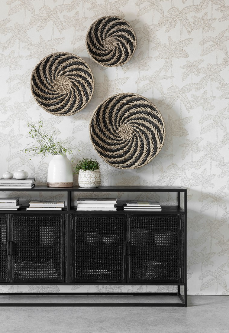 Snugg Must Living-seinäkoriste-musta whirl black