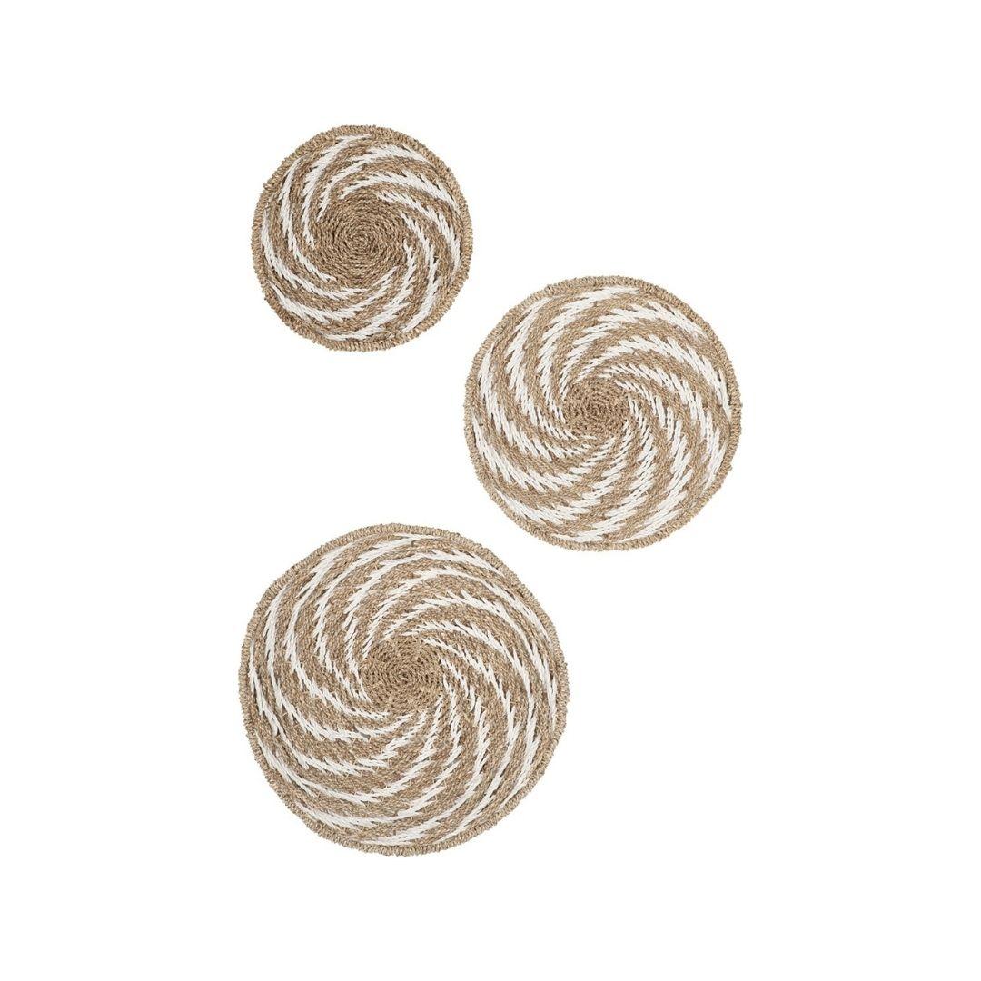 Snugg Must Living-seinäkoriste-whirl-white-1