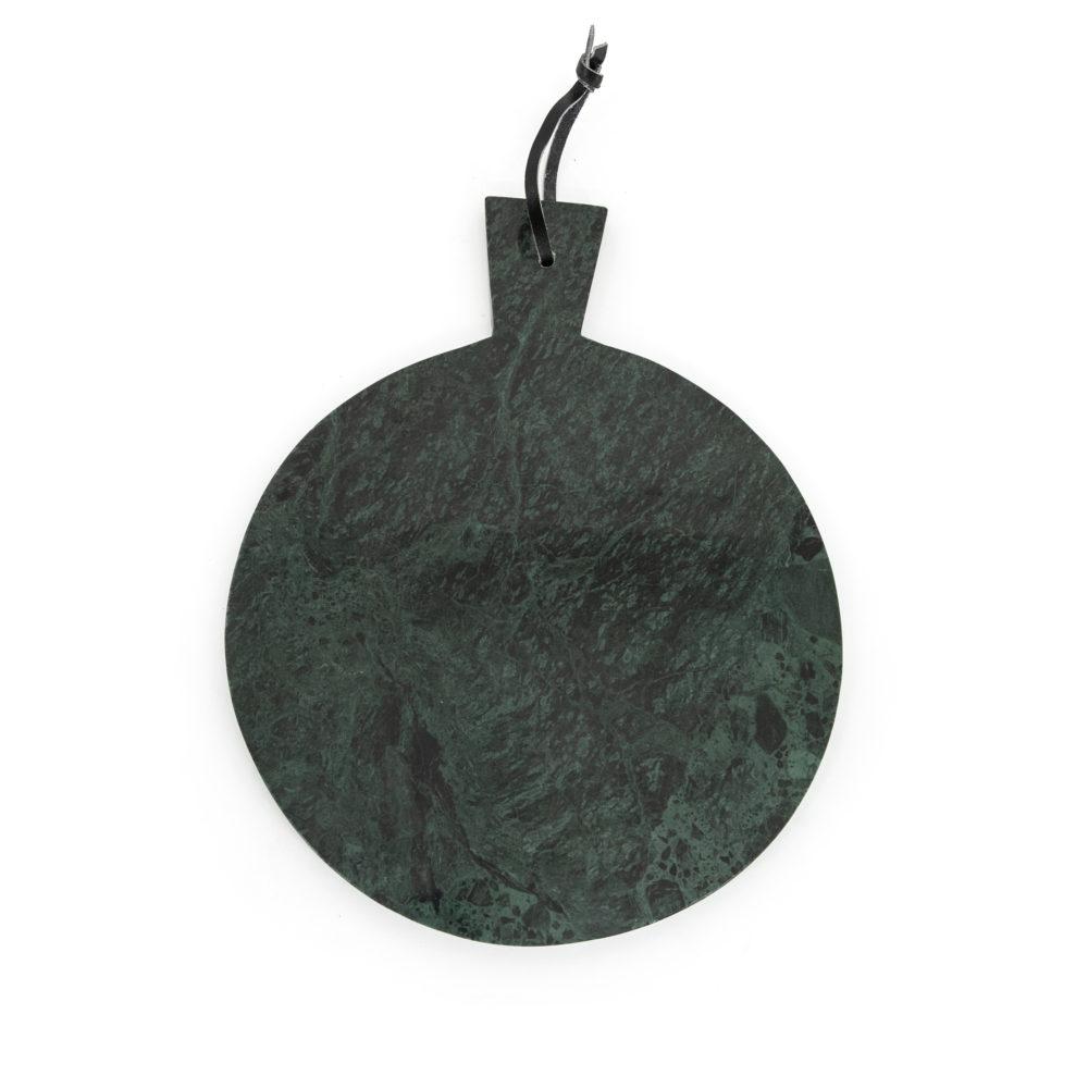 Snugg vihreä pyöreä marmorinen leikkuulauta