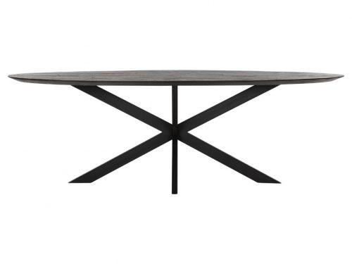 Snugg Timeless Shape puinen ruokapöytä musta ovaali 240x110