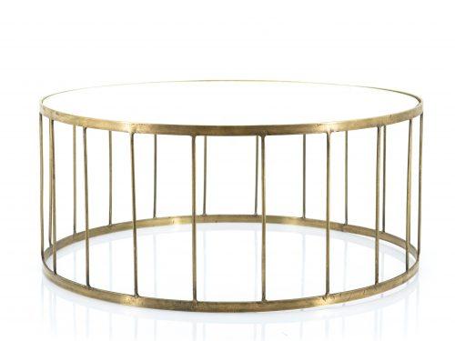 Snugg By-Boo Caesar lasinen pyöreä sohvapöytä