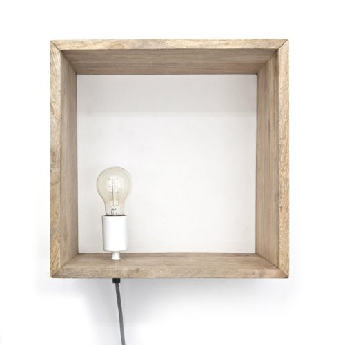 Snugg Light in a box sein?valaisin hyllyss?, natural