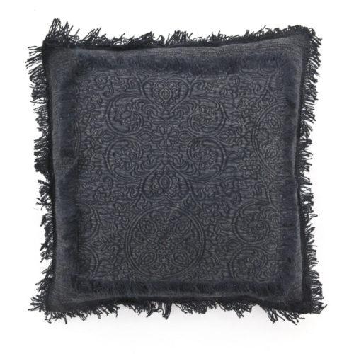 Snugg Floret sisustustyyny, musta 45x45